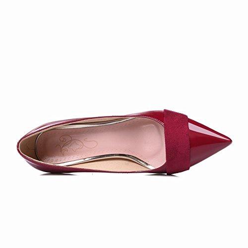 Mee Shoes Damen high heels Geschlossen Nubuck Pumps Weinrot