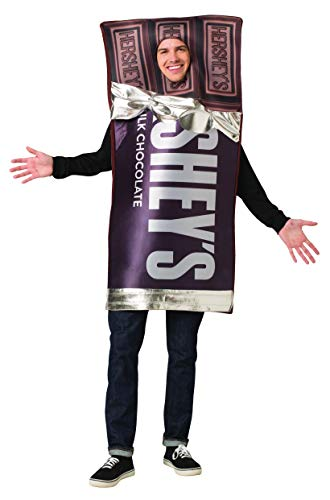 Chocolate Bar Costumes (Hershey Chocolate Bar Adult Costume Mens Womens Hershey's Candy Outfit One)