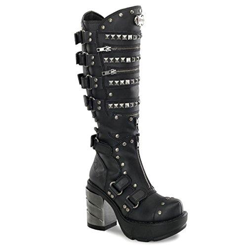 Stiefel Demonia 36 43 Gothic Heels Metall Industrial High Sinister Schuhe 301 qZRw0ZxyTF