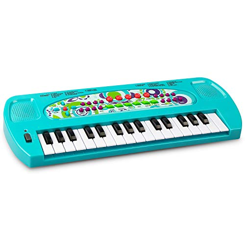 SAOCOOL Kids Piano, 32 Keys Multifunction Electronic Piano Keyboard for boys and girls over 3 years old (Blue)