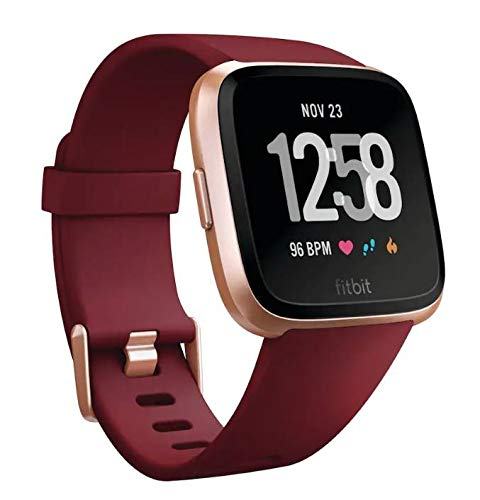 Fitbit Versa Smartwatch with Limited Edition Ruby Band, Ruby|Rose Gold Aluminium, One Size (S & L Bands Included)