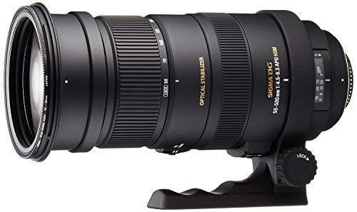 Sigma 738306 50-500mm F / 4.5-6.3 APO DG OS HSM SLD Ultra Teleobjetivo Zoom para cámara Nikon DSLR digital - Versión internacional (sin garantía)