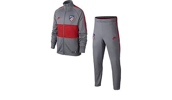 Nike Chandal Niño Atlético de Madrid Strike 2019/2020 Gris/Rojo ...