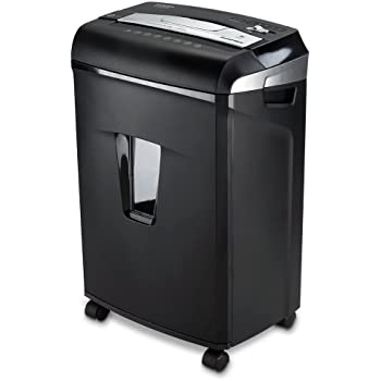 Aurora JamFree AU1235XA 12-Sheet Cross-Cut Paper / Credit Card Shredder with Pull-Out Wastebasket