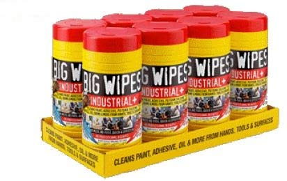 BIG WIPES 30CT INDUSTRIAL PLUS DUAL SIDED ABRASIVE WIPES, Case Pack of 8 by DollarItemDirect