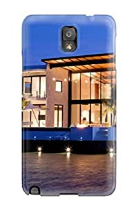 Benailey Fashion Protective Architecture Houses Case Cover For Galaxy Note 3