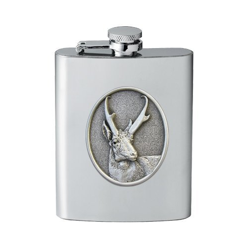1pc, Pewter Antelope Flask