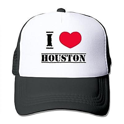 I Love Houston Mesh Back Baseball Cap Trucker Hats