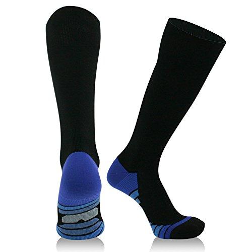 Compression Socks for Men&Women,20-30mmhg Graduated Pressure Stocking for Travel, Nurses, Running,Maternity Pregnancy, CirculatoryR&ecovery Varices Socks Blue L