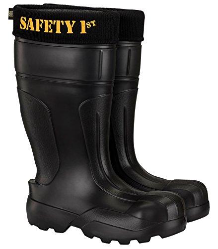 Leon Boots Co. Ultralight Men's Safety 1st EVA Non-Slip Boots, Size US 12-1/2, EU 46, Black by LBC Leon Boots Co (Image #9)