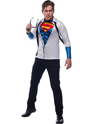 Rubie's Costume Co DC Comics Photo Real Superman/Clark Kent Costume Top, As Shown, X-Large