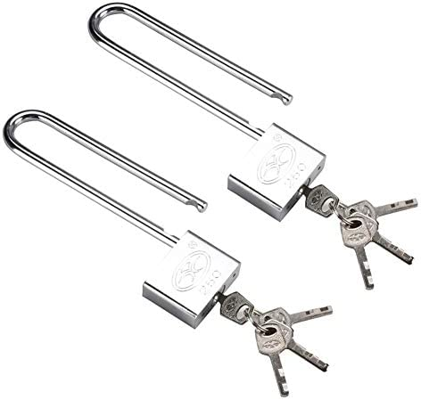 MUMA Heavy Duty Durable Steel Padlock Safety Security Shackle Indoor Outdoor Shed Garage Lockbox Chest Locker Color : Silver, Size : 40MM