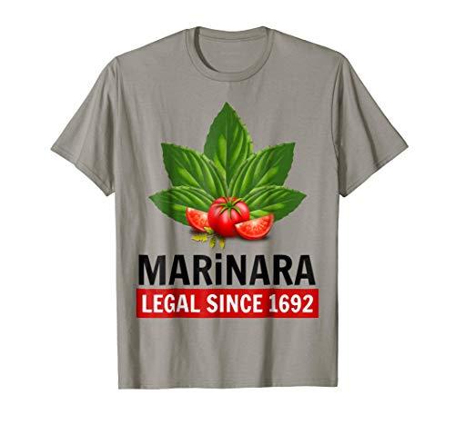 Marinara Legal Since 1692 Basil and Tomatoes T-Shirt ()