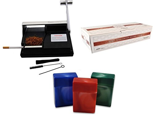 Powermatic I Cigarette Injector Machine + FREE Zico Tube, 3 Pk Fess Cigarette Case by F.e.s.s. Products