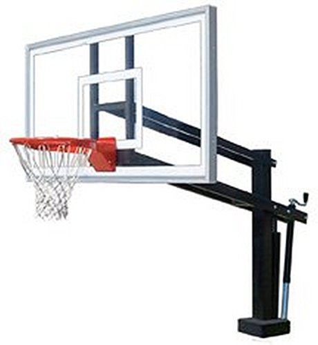 First Team HydroShot Select Stainless Steel-Acrylic Adjustable Poolside Basketball System44; Sienna Orange