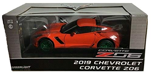 Greenlight Chase Green Machine 18251 2019 Chevrolet Corvette Z06 Coupe Torch Red 1:24 Scale ()