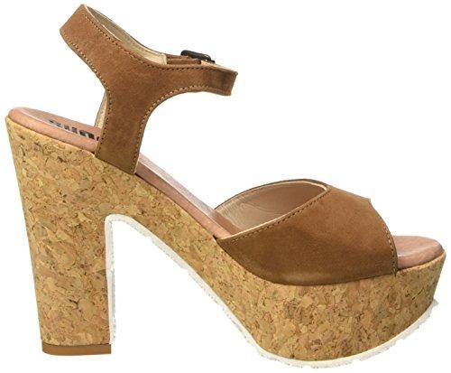 Damen Plateau Sommer Sandale Braun 160171vv Schuhe Keilabsatz Sh Heels SHOOT Damen High Braun mit Sandalen Fa1Rwxqc4