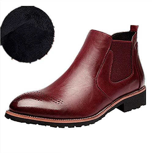 fur fur 37 Stivaletti Comodo Comodo Comodo Uomo Marrone Rosso da Stivali Chelsea Elegante 44 Nero Business Scarpe Rosso CqS6wpq