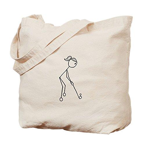 CafePress Golf Girl Negro, No palabras–Gamuza de bolsa de lona bolsa, bolsa de la compra