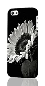 Sunflower In Black And White Custom Diy Unique Image Durable 3D Case Iphone 5C Hard Case Cover