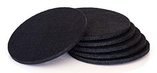 (Comfortena Absorbent Felt Coaster Inserts Set of 6 (Black))