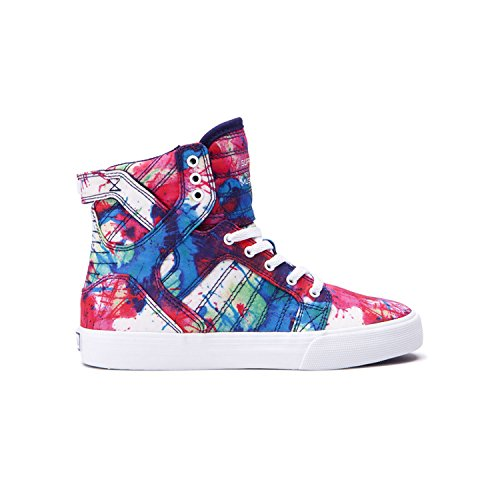 Supra Skytop Kids (6 Big Kid M, Paint Splatter/White) - Supra Skytop Sneakers