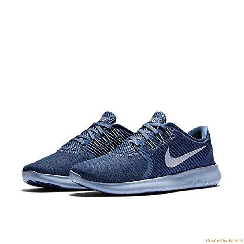 Nike Free Rn Cmtr Havet Dimma / Varg Grå / Skvadron Blå Kvinna Kör Sneakers 9,5 Oss