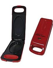 BEST DIRECT EC-0377-R Express Cooker zoals in de tv, multigrill, elektrisch, anti-aanbaklaag, met omkeerfunctie, 800 W, rood, 800 W