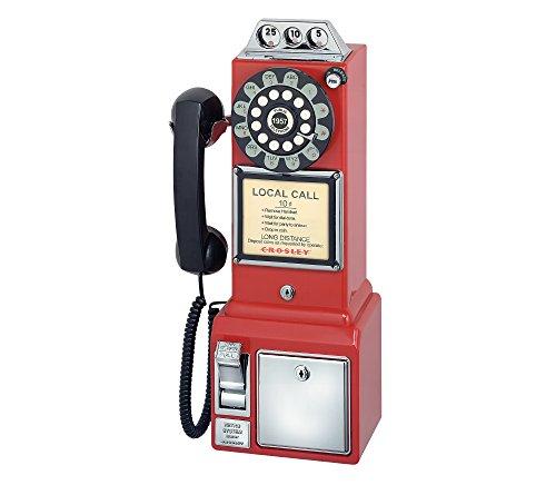 Crosley Radio 1950s Classic Pay Phone Red (Phone Pay)