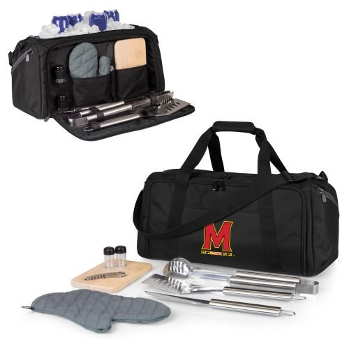 PICNIC TIME NCAA Maryland Terrapins BBQ Kit Cooler Tote with Barbecue & Accessories