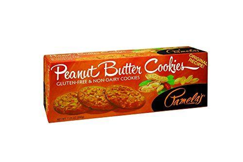 Pamela's Products Gluten Free Cookies, Peanut Butter, 7.25 Ounce