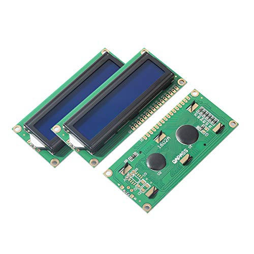 (2pcs LCD1602 Screen with Backlight LCD Display Module Board 2 x 16 Characters 1602-5v fit Arduino Duemilanove Robot 1602A)