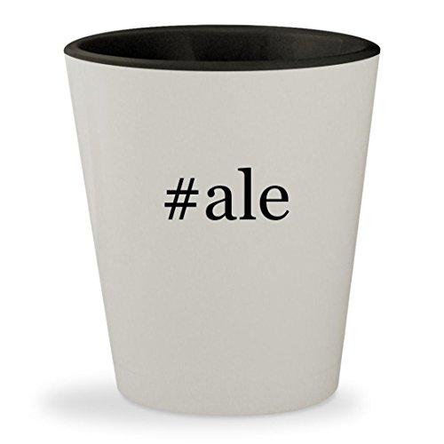 #ale - Hashtag White Outer & Black Inner Ceramic 1.5oz Shot Glass