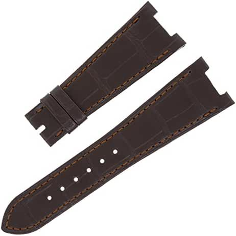 Patek Philippe B76 25 - 18 mm Genuine Alligator Leather Brown Men's Watch Band