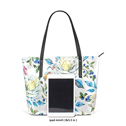 Bag And Pu Pattern Purse Muticolour Bag Floral Coosun Watercolor For Leather Tote Handbags Women Means q8XfRZ