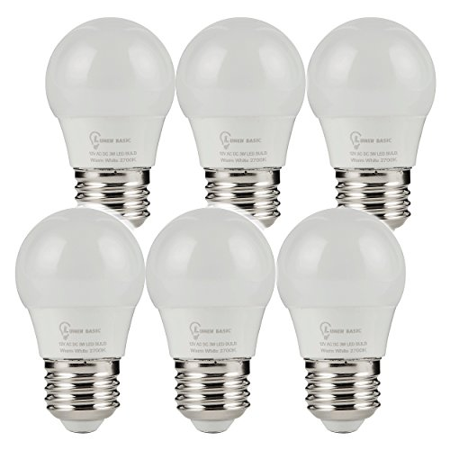 Bulbs E26 E27 12vdc 12vac Light Bulbs Low Voltage Edison AC DC Screw in Light Bulbs for Off Grid Solar Lighting Marine Boat RV 12v Interior Lighting Warm White for Camper ()