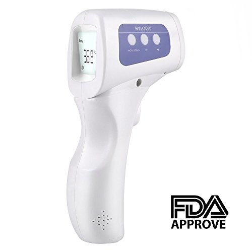Low Ambient Control (Digital Infrared Thermometer, Hylogy Forehead Thermometer with Dual Mode Contactless Fever Alarm Function Childcare Supplies, Adult, Surface of Objects)