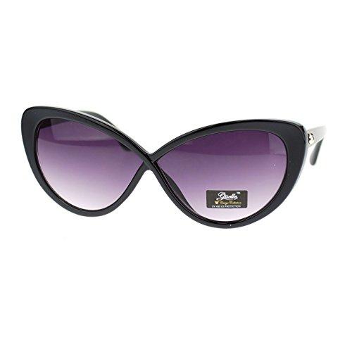Giselle Womens Cross Bridge Narrow Rectangular Cat Eye Sunglasses - Bridge Narrow Glasses