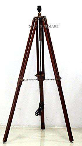 Timber Wood Tripod Lamp Base NauticalMart Collection