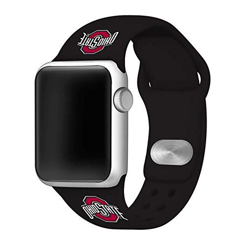 - Affinity Bands Ohio State Buckeyes Black Silicone Sport Band Compatible with 38mm/40mm Apple Watch - Band ONLY