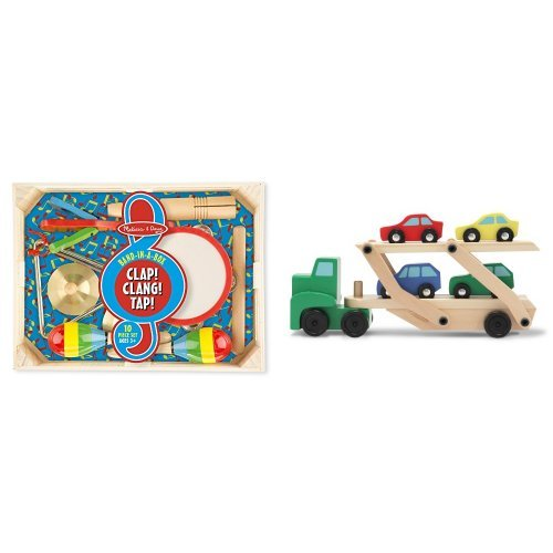 Melissa and Doug Band in a Box & Car Carrier Bundle