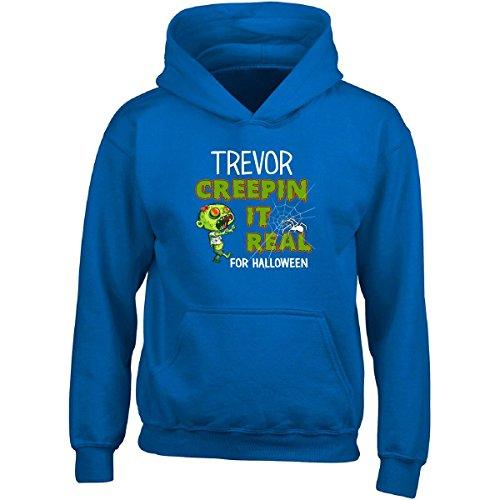 Trevor Costume Halloween (Trevor Creepin It Real Funny Halloween Costume Gift - Adult Hoodie L)