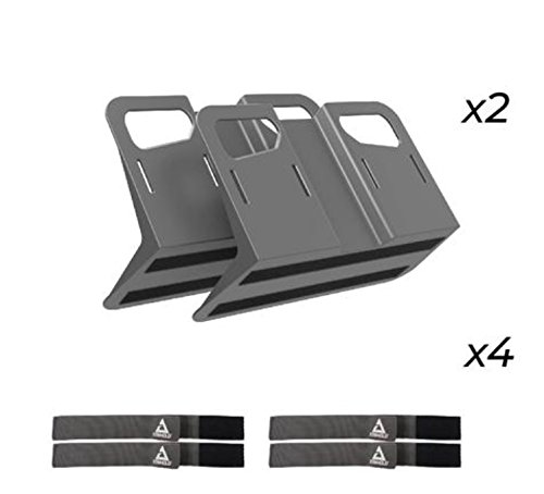 STAYHOLD Metro Starter Pack Car Trunk Organizer, Adapts to Hold Any Size or Shape Item   Sticks to Carpet with VELCRO Brand Technology   Cars, Trucks, SUV, Minivan & Boats   6 Pc Set, Gray ()