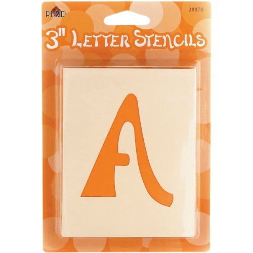 Halloween Font Stencils - Plaid Letter Stencil Value Pack (3-Inch),