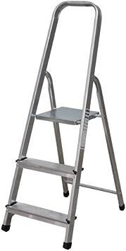 NAWA Escalera Plegable 3 Peldaños de Aluminio. Escadote 3 ...