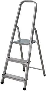 NAWA Escalera Plegable 3 Peldaños de Aluminio. Escadote 3 Degraus. EN 131 Capacidad Máx. 150 kg. Hecho/Fabricado en Europa. BTF-TJL103: Amazon.es: Hogar