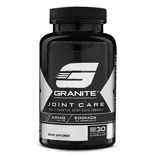 Joint Care by Granite Supplements | 30 Capsules to Support Joint Flexibility, Health, and Comfort | Includes Patented Undenatured Collagen as UC-II, Curcumin C3 Complex, and Bioperine