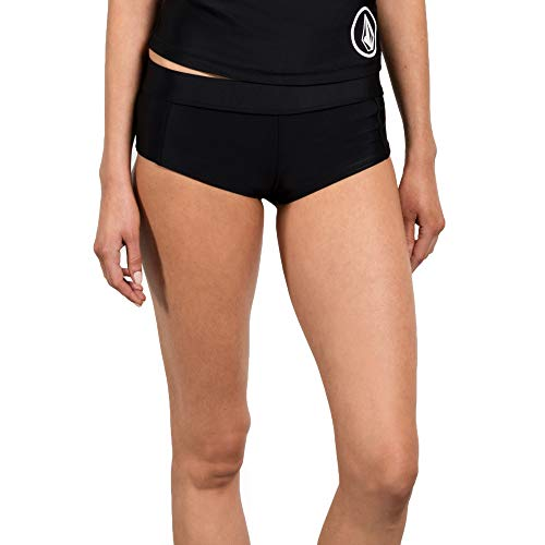 fb486d9e57 Volcom Women's Junior's Simply Solid Boy Cut Bikini Bottom, Black, Extra  Small (Boy