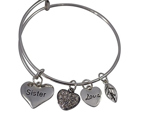 Price comparison product image Sister Bangle Bracelet- Sister Jewelry- Perfect Gift for Sisters