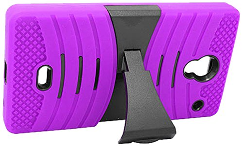 Eagle Cell Sharp Aquos Crystal Hybrid Skin Case with Stand - Retail Packaging - Purple/Black (Purple Sharp Aquos Crystal Case compare prices)